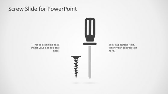 Screwdriver PowerPoint Metaphor Slide