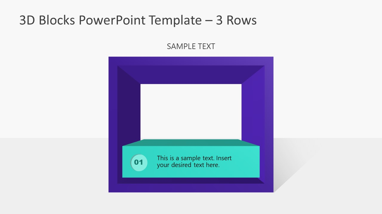 Presentation of 3D Block Shapes PPT