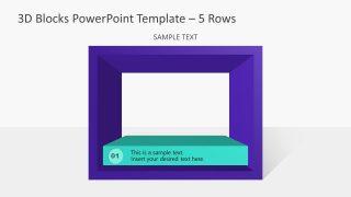 PowerPoint Templates 3D Diagram 1 Block