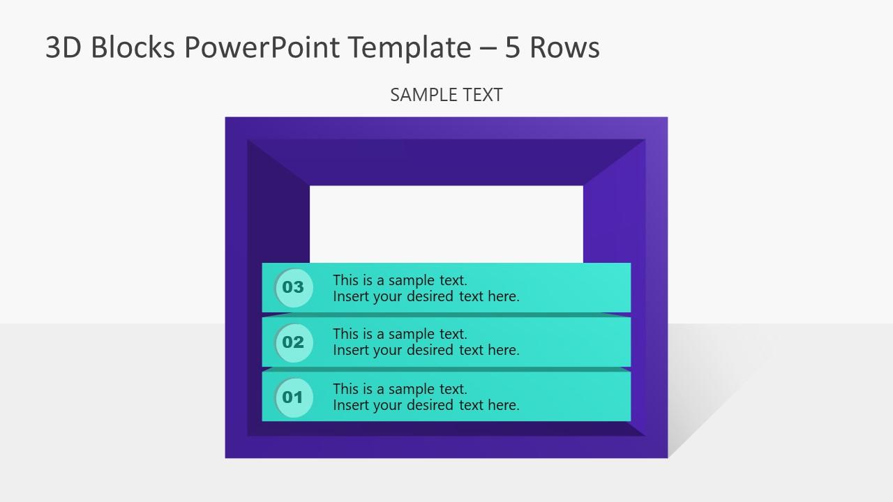 PowerPoint Templates 3D Diagram 3 Block
