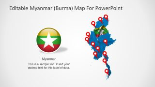 Editable Myanmar PowerPoint Map