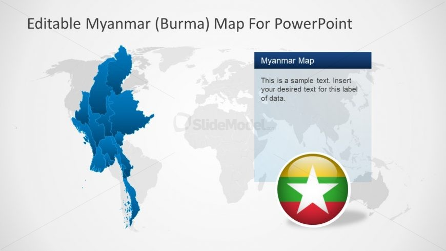 Editable PowerPoint Shapes of Map