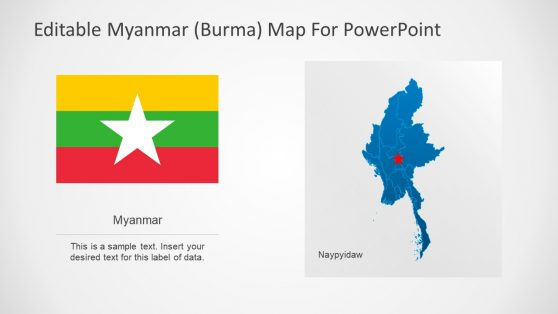 Naypyidaw City and Myanmar Country Map