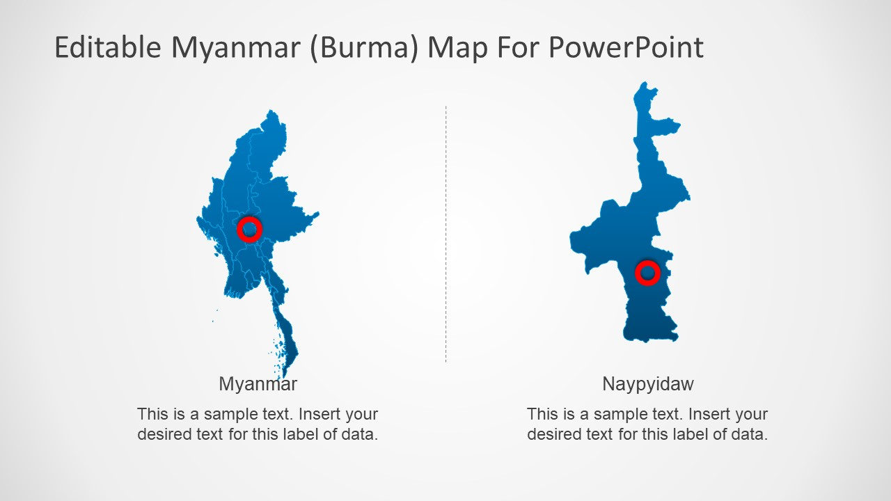 PPT Slide Myanmar Editable Map