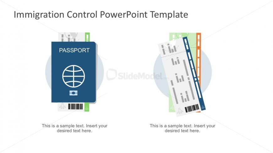 travel passport boarding pass vectors