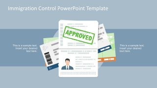 Visa Pass Mark Icon Vectors PowerPoint