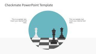 Circular Slide of Checkmate Metaphor
