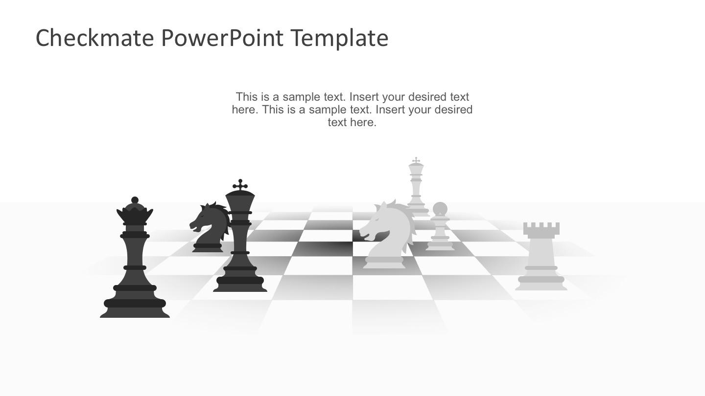 Best 3D Man Chess PowerPoint Template