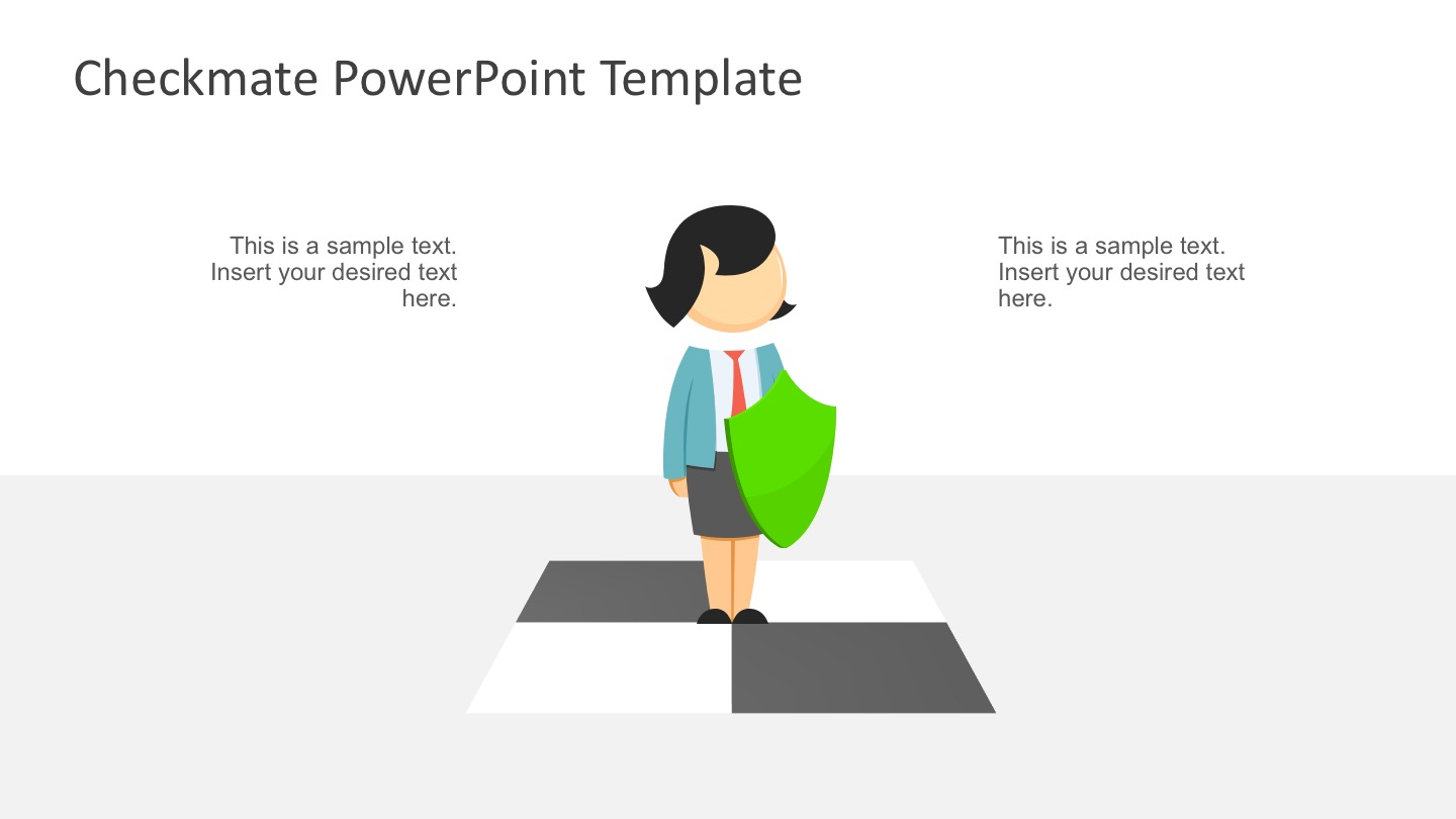 3D Chess Template PowerPoint Slides