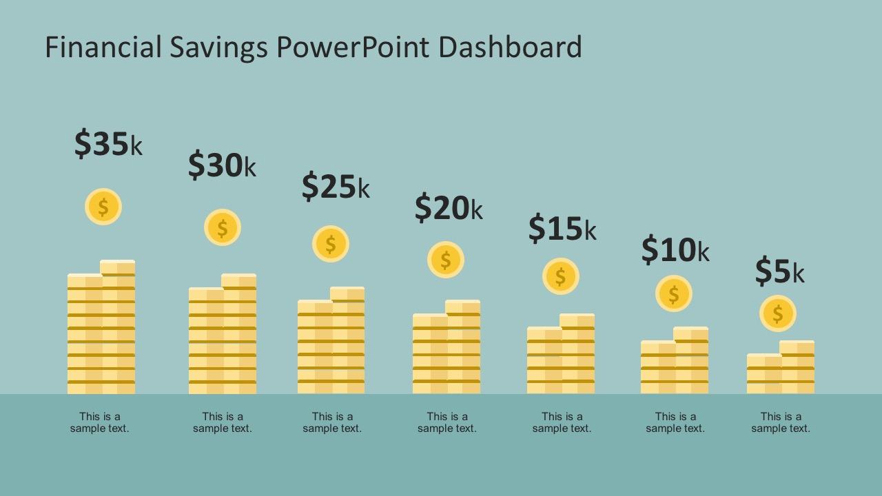 Financial Savings Powerpoint Infographics X