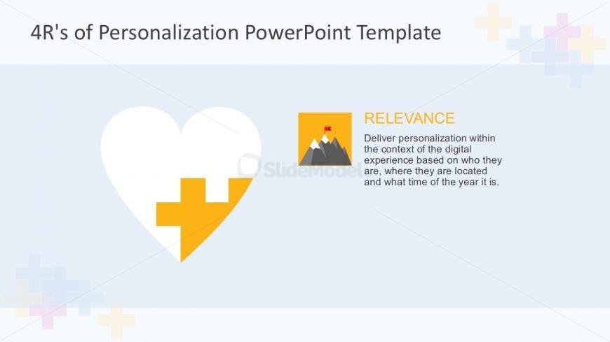 PowerPoint Heart Diagram with 4 Steps