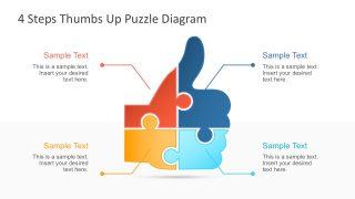 4 Step Thumbs Up Puzzle PowerPoint Template