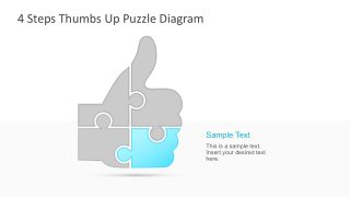 Puzzle Thumbs Up Infographics PowerPoint
