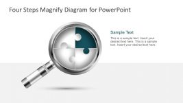 Magnifier Diagram with 4 Steps