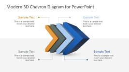 3D Chevron PowerPoint Diagram