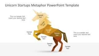 Unicorn Startup Metaphor PowerPoint Shapes