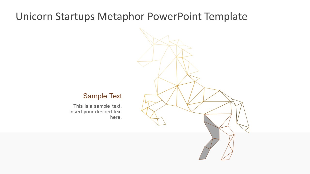 PowerPoint Shapes Unicorn Low Poly