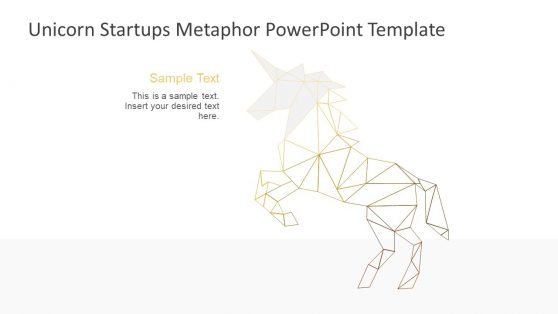 Geometric Graphics Unicorn Illustration Slide