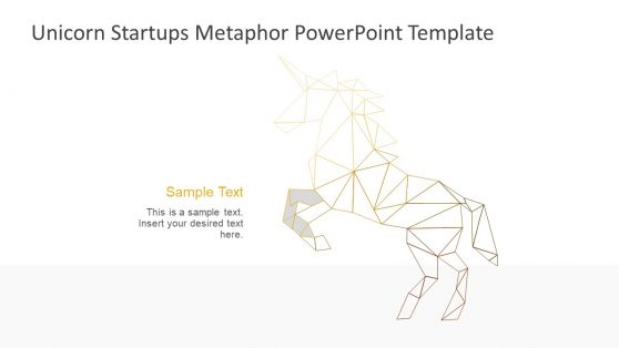 Sections of Low Poly Unicorn Shape PPT