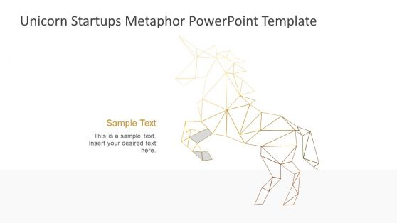 Slide of Unicorn Startup Metaphor