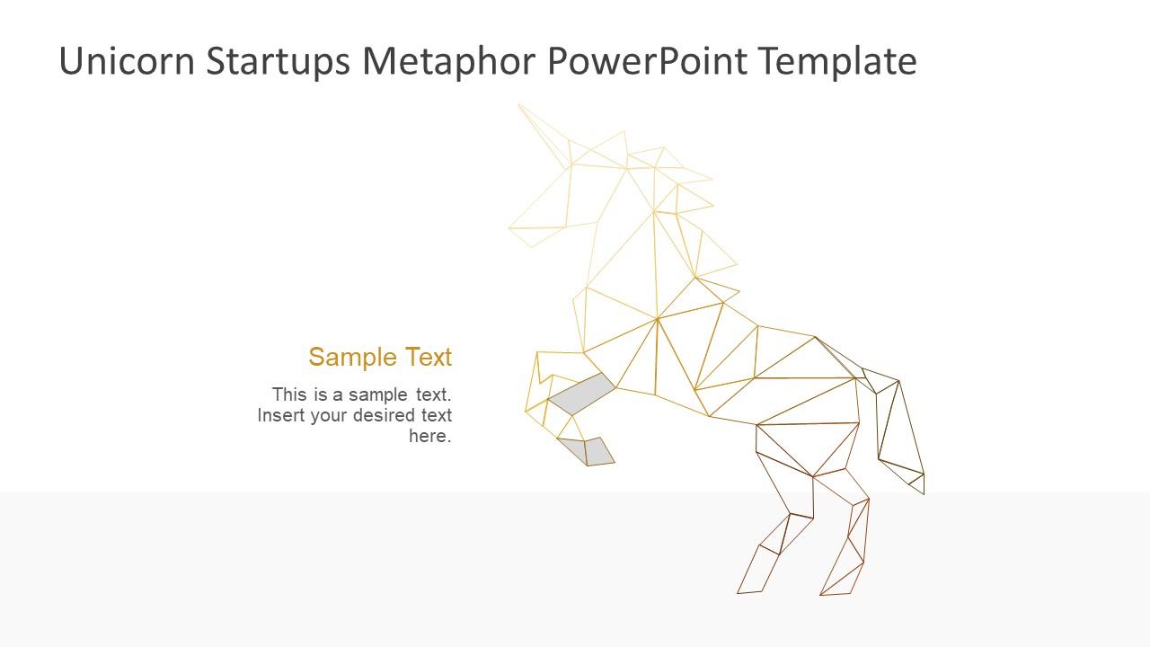 Digital Polygon Shapes of Unicorn