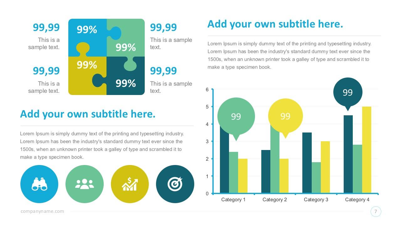 SmartArt PowerPoint Infographic Dashborads