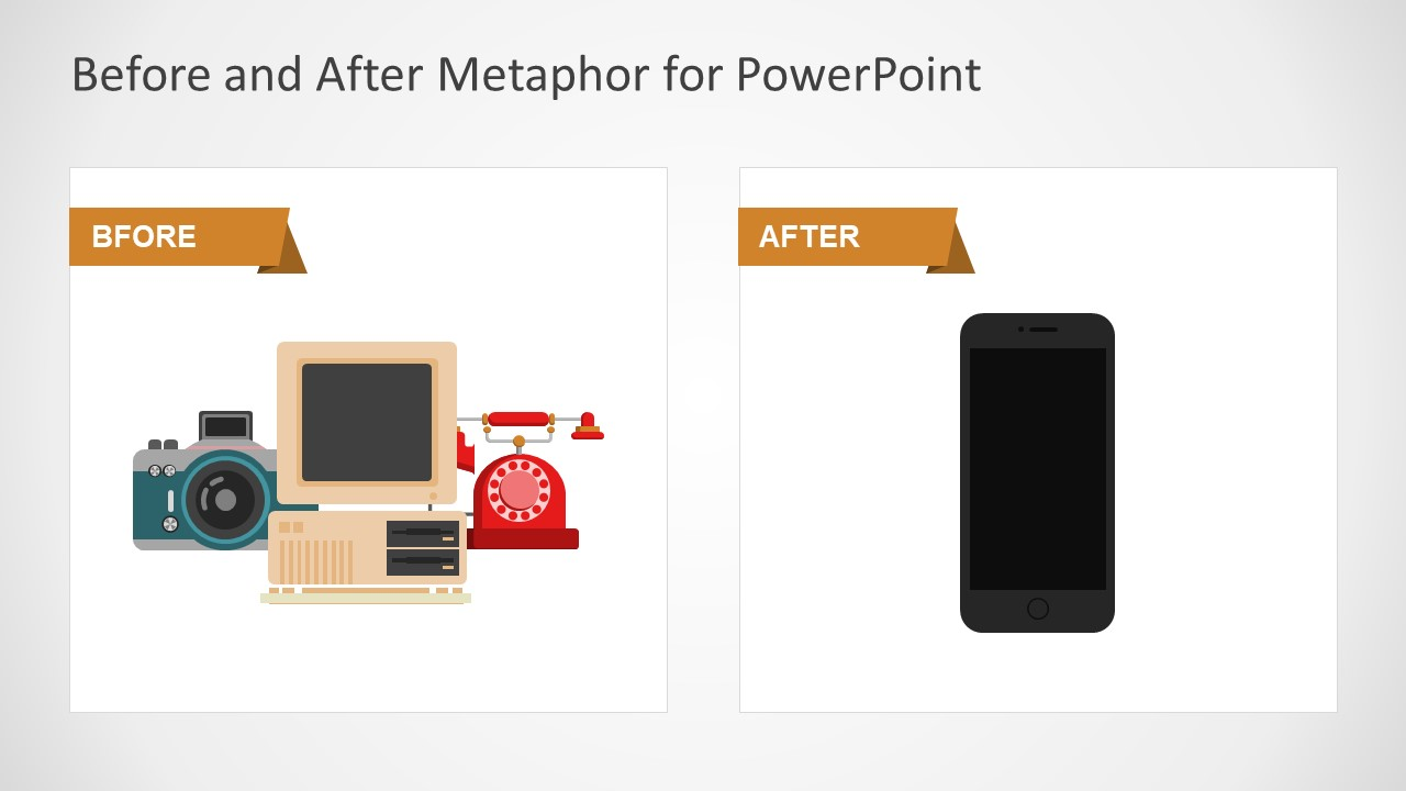 before after metaphor powerpoint templates slidemodel