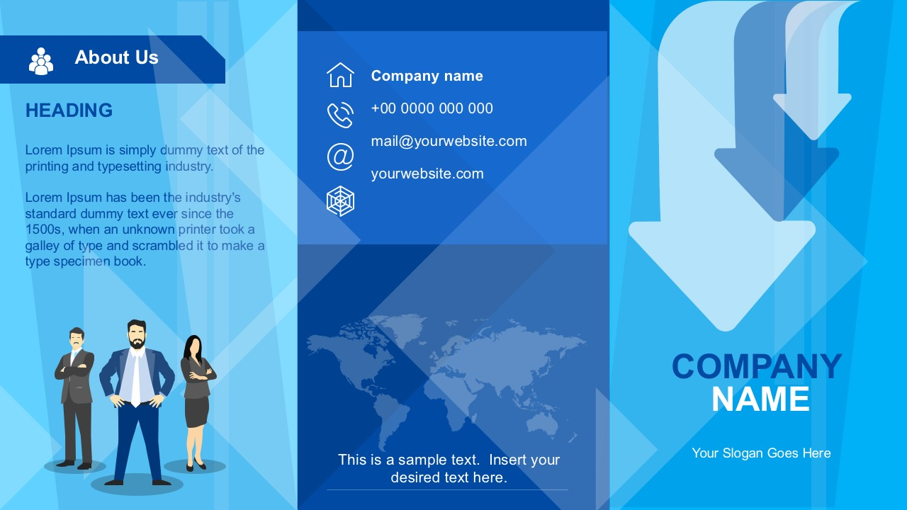 Business Brochure Powerpoint Template Slidemodel