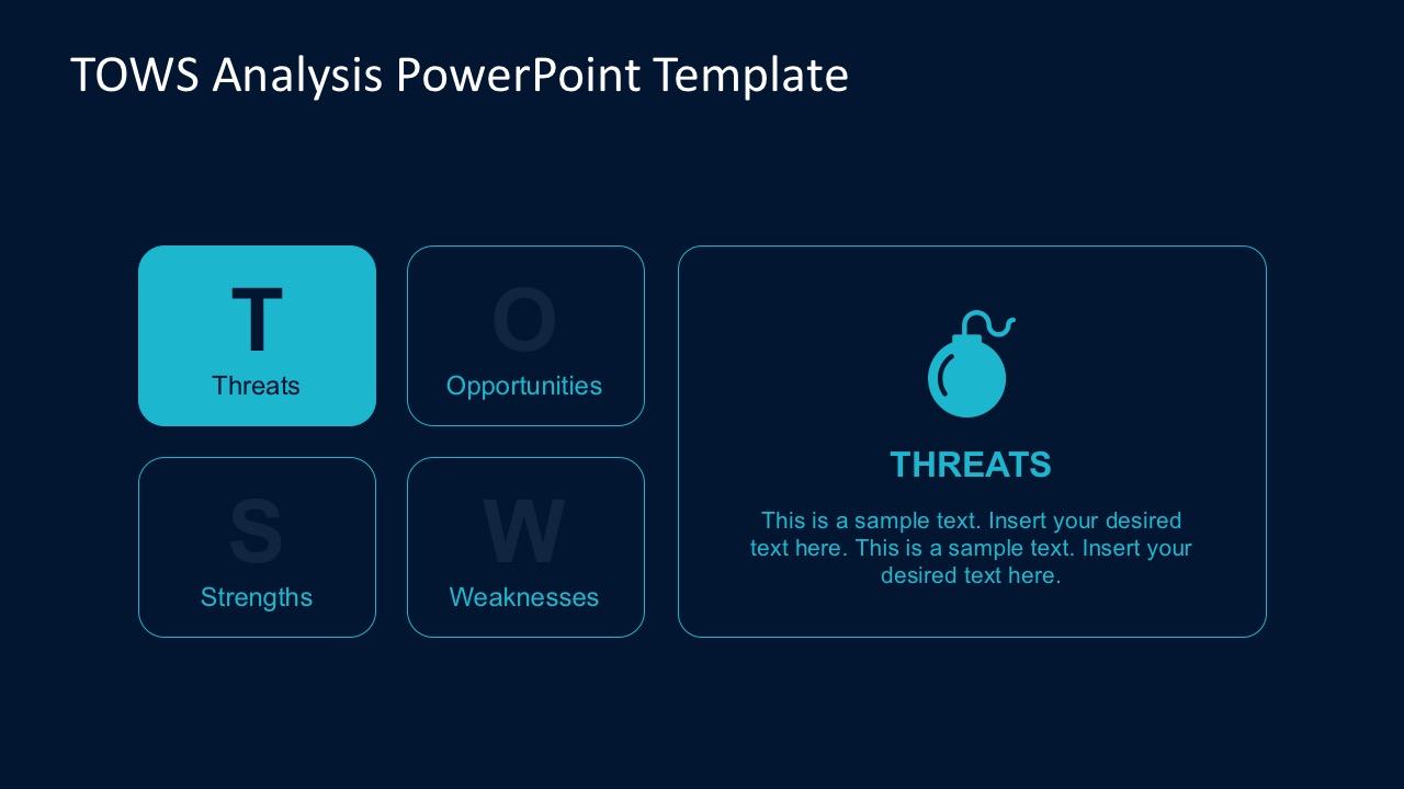 TOWS Matrix PowerPoint Template Slides