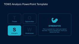 Flat TOWS Analysis Matrix for PowerPoint