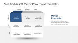 Modified Ansoff Matrix Templates