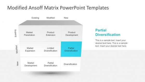 Modified Ansoff Growth Matrix PowerPoint Presentations