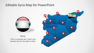 Editable Syria Map PowerPoint Template