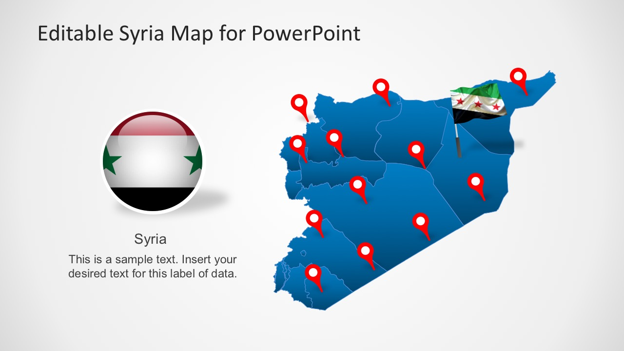 Map of Syria PowerPoint