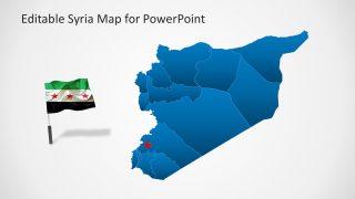 Editable Syria Territory Map