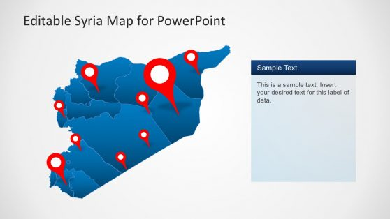 Editable Syria Map for PowerPoint