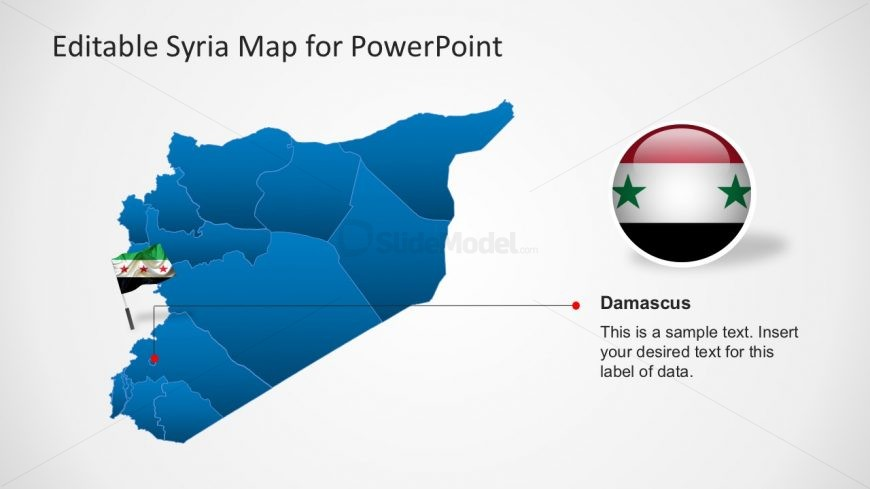 Syria Political Map for PowerPoint