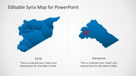 Syria Capital City Map Template