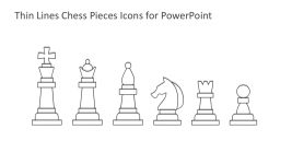 Thin Lines Chess Pieces for PowerPoint