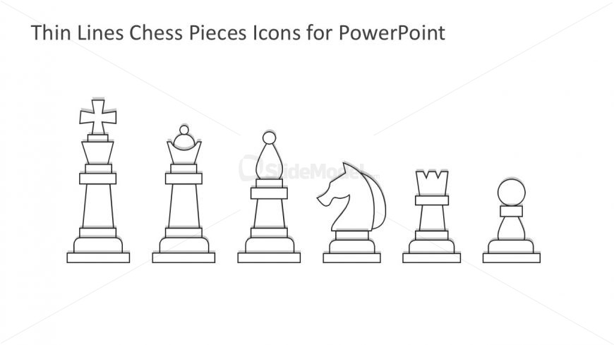 Simple Chess Pieces Graphic Design