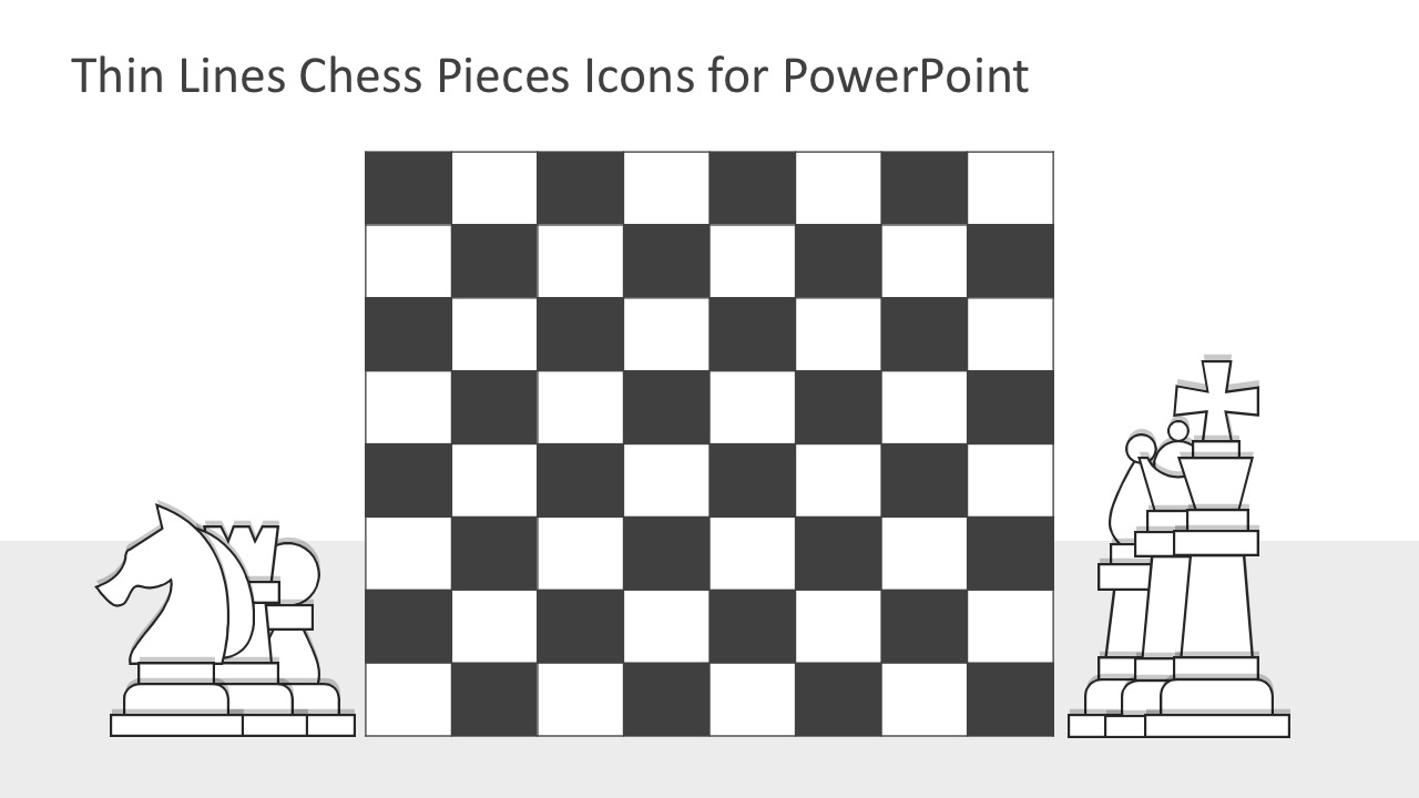 Thin Lines Chess Pieces Icons for PowerPoint - SlideModel