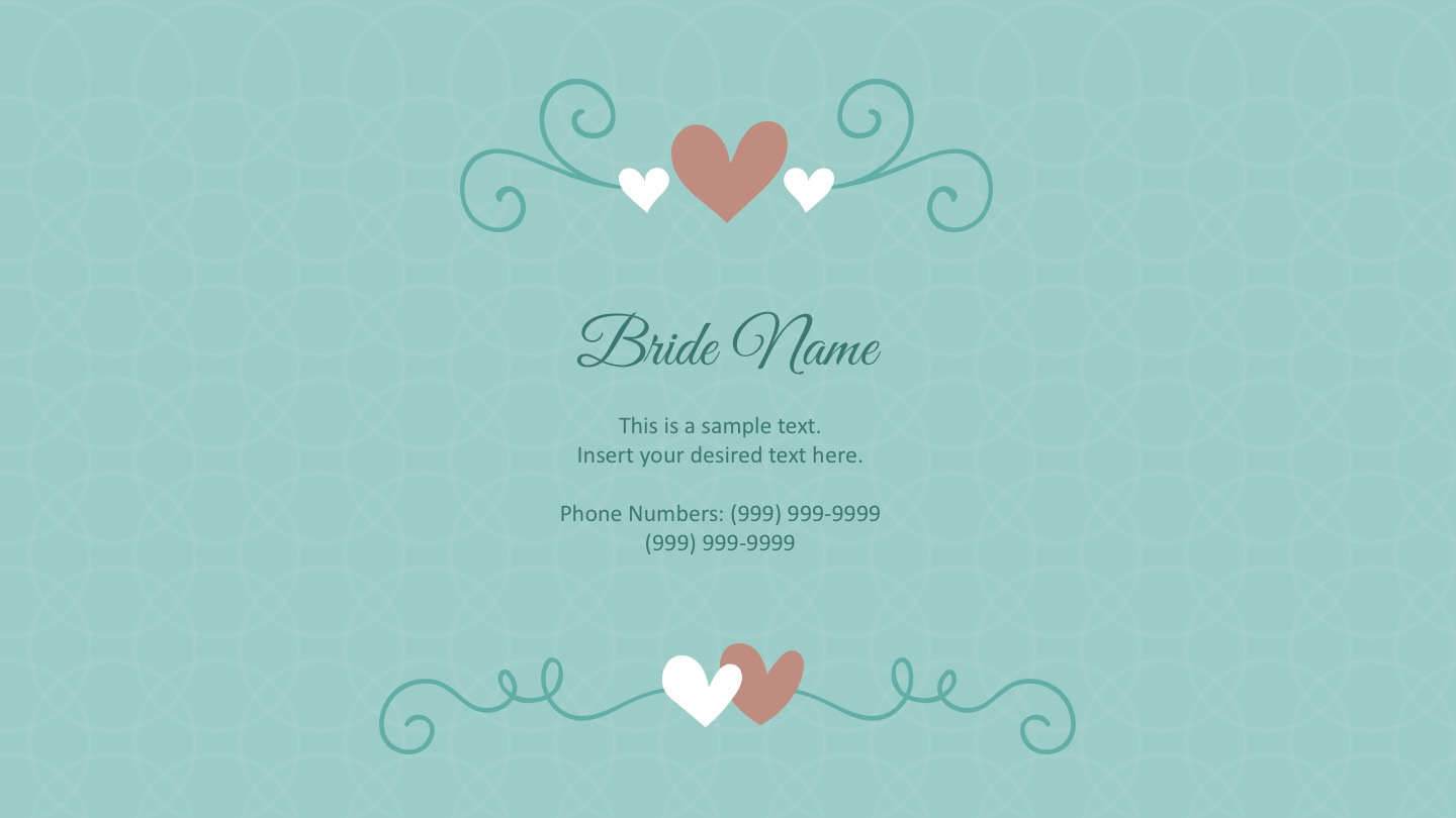 Powerpoint wedding templates free