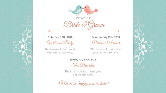 Wedding Invitation PowerPoint Template