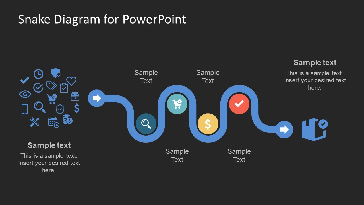 creative snake diagram powerpoint template