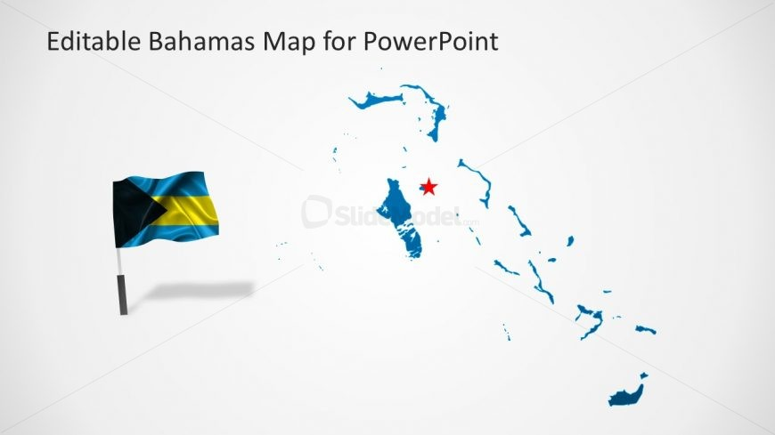 Bahamas Map and Flag Template