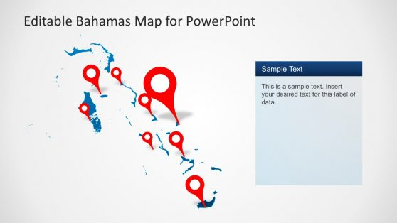 Bahamas Location Map PowerPoint