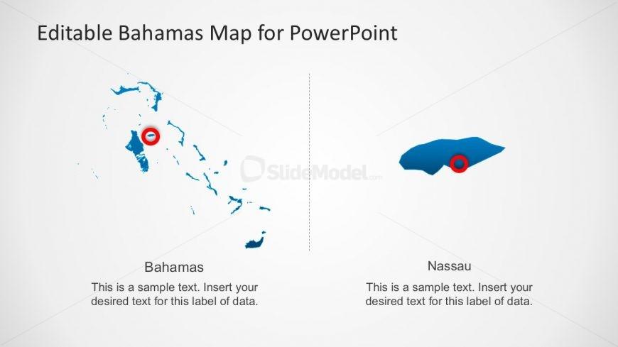 Nassau Map Marker PowerPoint Slide