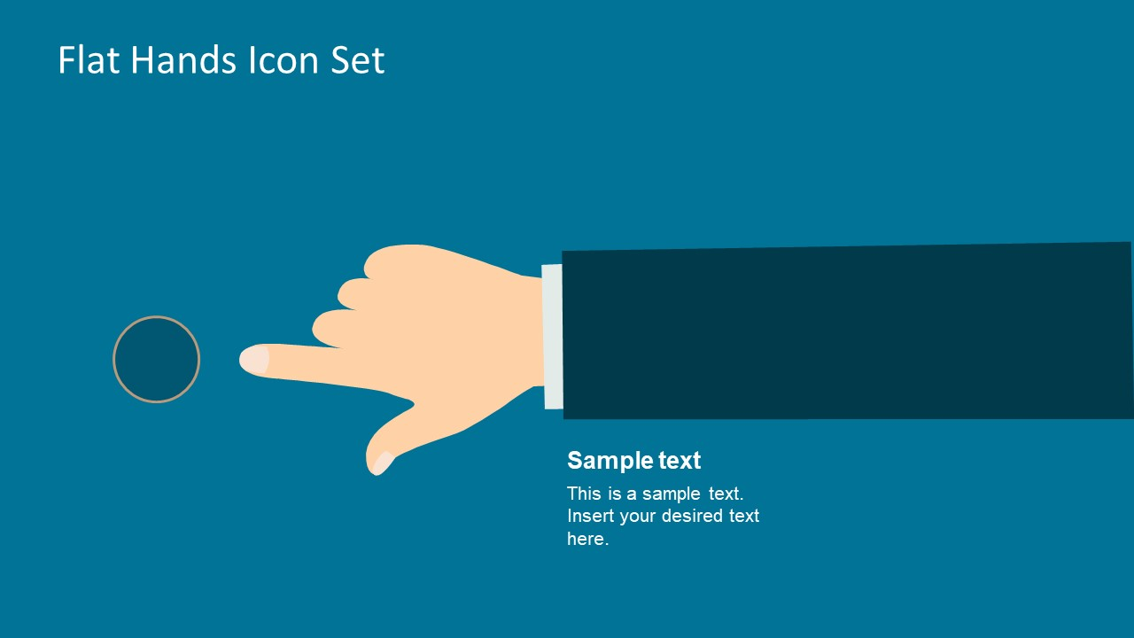Finger Pointing at Button Illustration