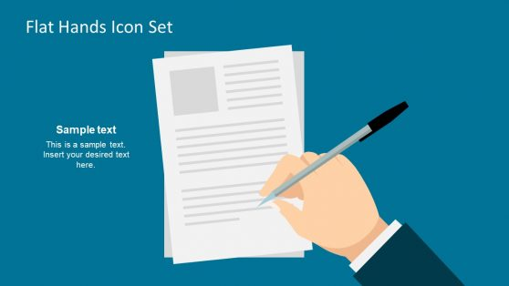 Flat Vector Hands Icon Signing