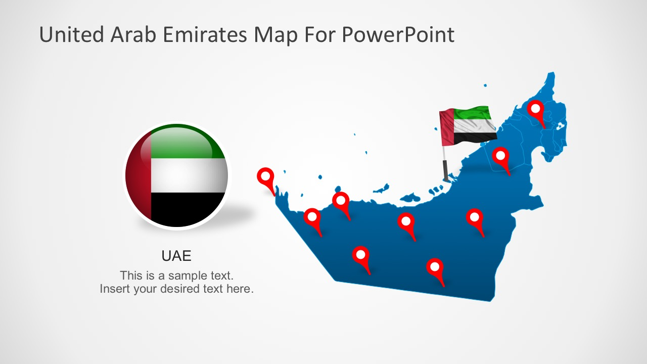 United Arab Emirates Map Template